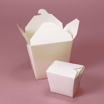 Chinese Takeout Boxes - White