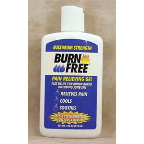 4990439 PT# 4B2400 Burnfree Burn Relief Gel 4oz in Squeeze Bottle Ea Made by Burn Free Products