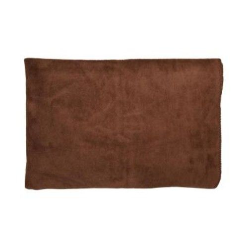 50 in. W x 65 in. L Dark Brown and Tan Reversible Soft Cotton Cozy Fleece Patterned Blanket