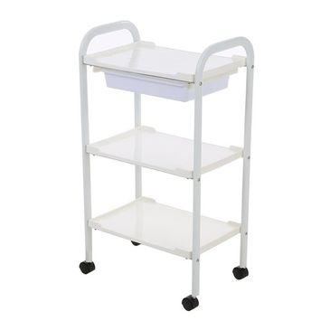 Anself Salon Trolley Barber Cart Hair Rolling Cart 3 Layers Storage Tray Cart