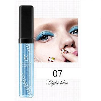 Liquid Glitter Eye Shadow,SMYTShop Long-lasting Makeup Liquid Smoky Eyeshadow Shimmer Cosmetic (Brillant blue)