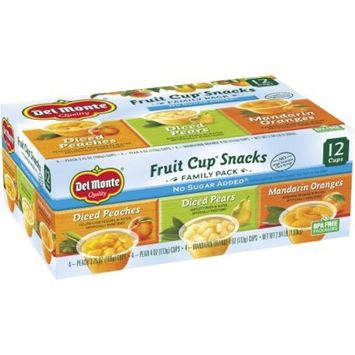 Del Monte No Sugar Added Variety Fruit Cups