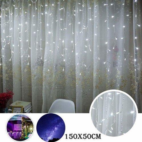 Window Curtain Lights,Lovewe LED Window Curtain Icicle String Fairy Lights Wedding Party Christmas Decor Light String