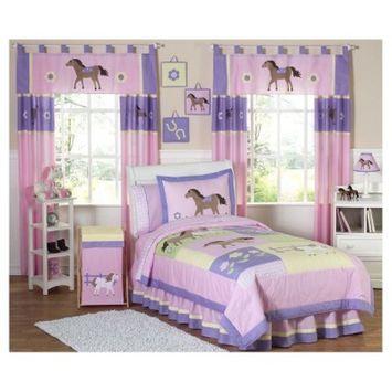 Pretty Pony 4 Piece Twin Bedding Set by Sweet Jojo Designs