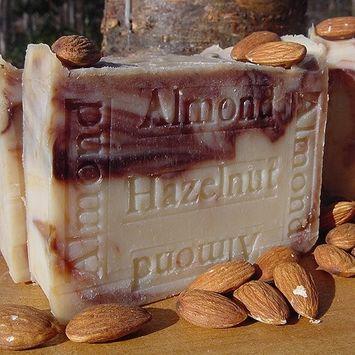 Almond Hazelnut Artisan Soap with Organic Almond Butter 7. oz Handmade All Natural