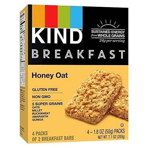 Kind Healthy Grains Honey Oat Breakfast Bars 1.8ozx4bars, total 7.1oz