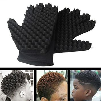 Barber Magic Sponge Curl Glove,lotus.flower Curl Hair Sponge Gloves for Barbers Wave Coil Twist Brush Gloves Styling Tool For Curly Hair Styling Care