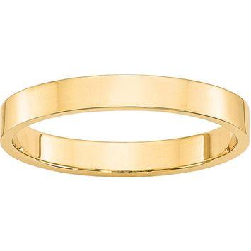 Primal Gold - Primal Gold 10 Karat Yellow Gold 3mm Lightweight Flat Band Size 12