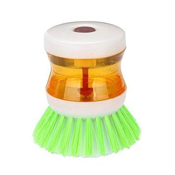 Dishwashing Brush,FTXJ Dish-washing press pan brush with Washing Up Liquid Soap Dispenser Kitchen Utensil Pot Clean Brush Kitchen Tool