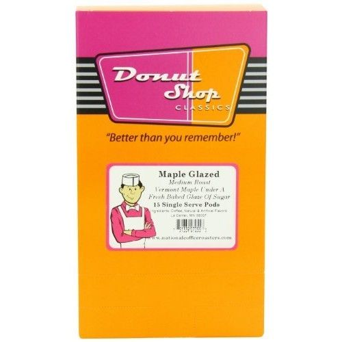 Donut Shop Maple Glazed, Medium, 15-Count (Pack of 3)