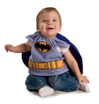 Batman Brave And Bold Batman Deluxe Baby Bib w/Cape Newborn