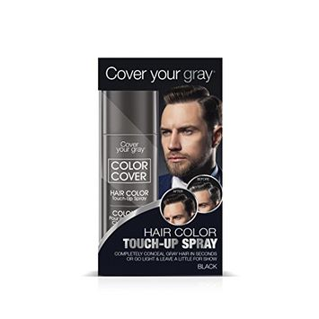 Cover Your Gray for Men Color Cover Hair Color Touchup Spray - Black (Pack of 4)