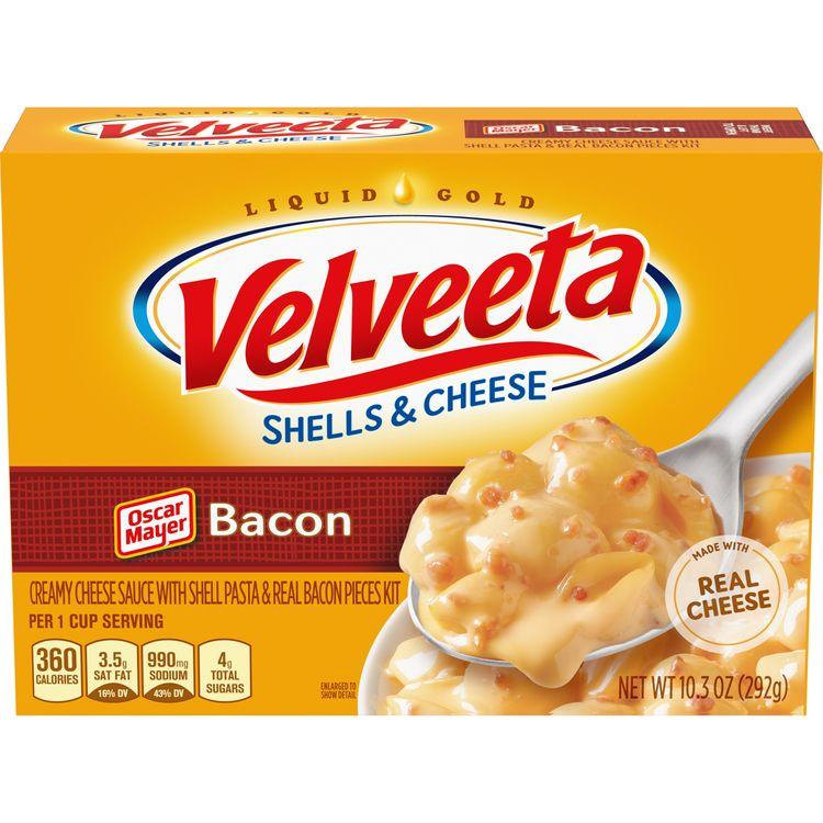 Velveeta Shells and Cheese with Bacon, 10.3 oz. Box