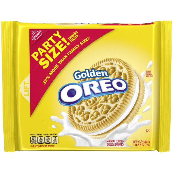 Golden Oreo Sandwich Cookies, 8 25.5Oz. Packages