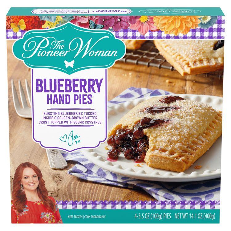 The Pioneer Woman Blueberry Mini Hand Pies Frozen Dessert Snacks, 4 ct Box, 3.5 oz Pies