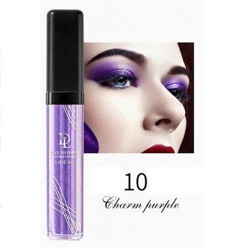 Liquid Glitter Eye Shadow,SMYTShop Long-lasting Makeup Liquid Smoky Eyeshadow Shimmer Cosmetic (Charming purple)
