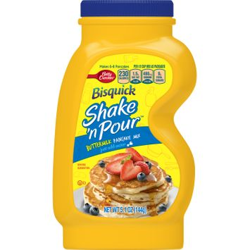 Betty Crocker Bisquick Baking Mix, Shake 'N Pour Pancake Mix, Buttermilk, 5.1 Oz Bottle