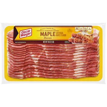 Oscar Mayer Naturally Hardwood Smoked Maple Bacon, 16 oz Vacuum Pack
