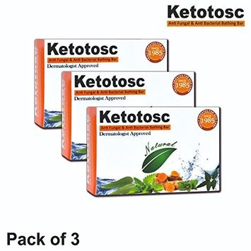 Ketotosc Antifungal Soap, 75 gm Bathing Bar (Pack of 3 (7.93 ounce))