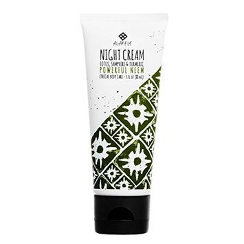 Alaffia - Neem Turmeric Night Cream, Age Defying Support to Rejuvenate and Protect Skin with Shea Butter, Lotus, and Samphire, Fair Trade, Powerful Neem, 3 Ounces