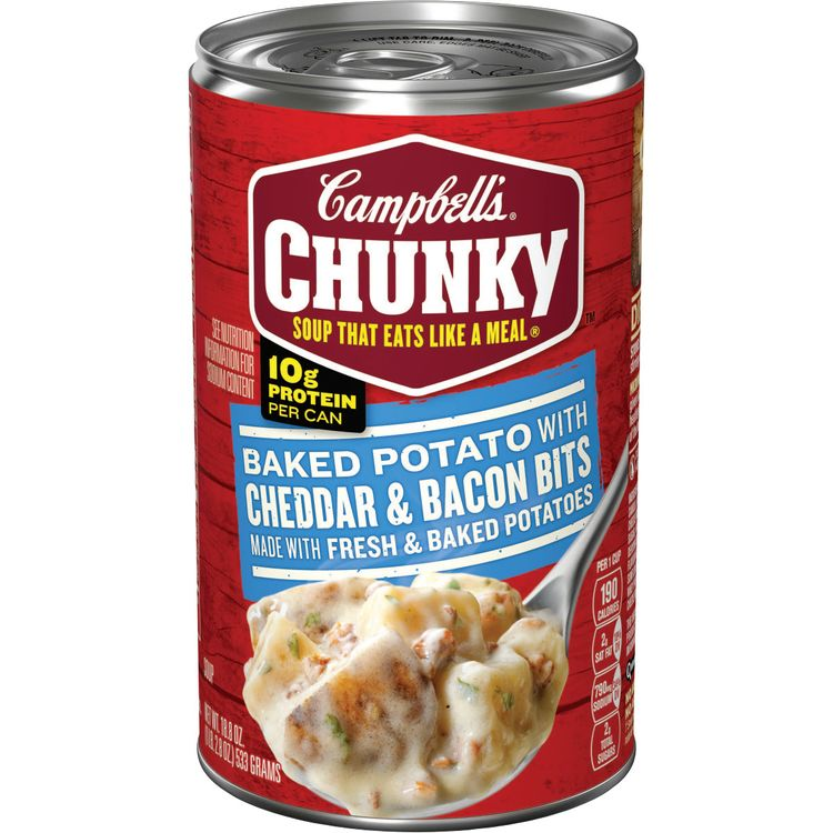 Campbell's® Chunky® Soup, Baked Potato with Cheddar & Bacon Bits Soup, 18.8 Ounce Can