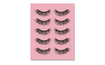 Yphone Temporary False Eyelashes (5-Pair)