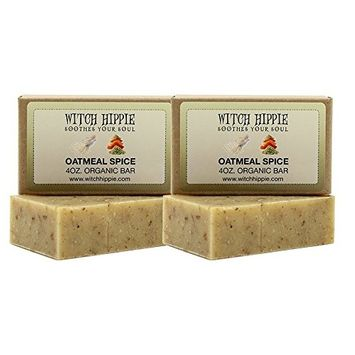 Oatmeal Spice 4oz Certified Organic Soap Bar 2 Pack by Witch Hippie