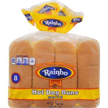 Rainbo Hot Dog Buns, 8 count, 12 oz