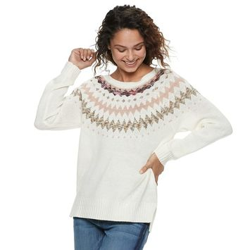 Juniors' American Rag Fairisle Sweater