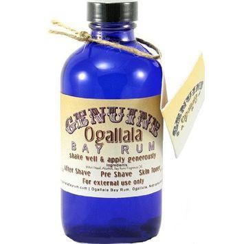 8 oz Genuine Ogallala Bay Rum Regular. Old-time looking bottle and label. [Bay Rum Regular Scent Aftershave]