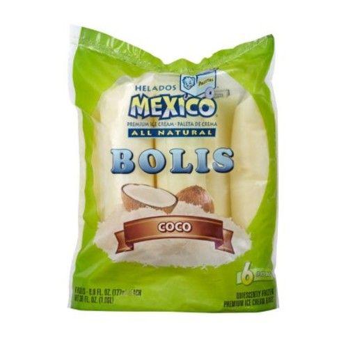 Helados Mexico Paletas Coco Premium Bolis, 5.0 fl oz, 6 count