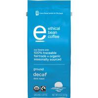 Ethical Bean Fairtrade Organic Coffee, Decaf Dark Roast, Ground Coffee