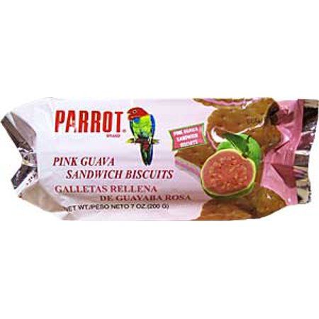 Parrot Sandwich Biscuits, Pink Guava, 7 Oz, 24 Ct