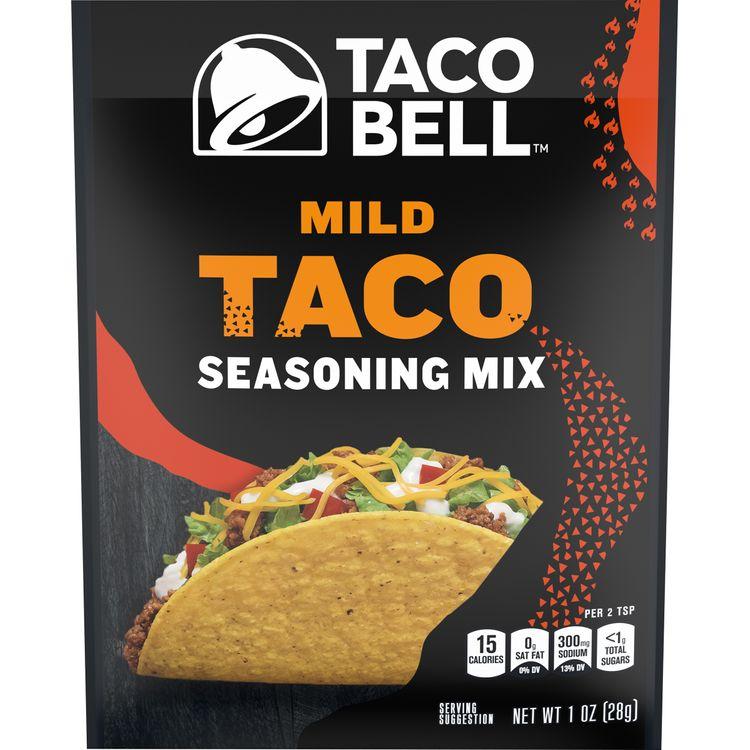 Taco Bell Mild Taco Seasoning Mix, 1 oz Packet