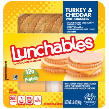 Lunchables Turkey and Cheddar with Crackers Lunch Combinations, 3.2 oz Package