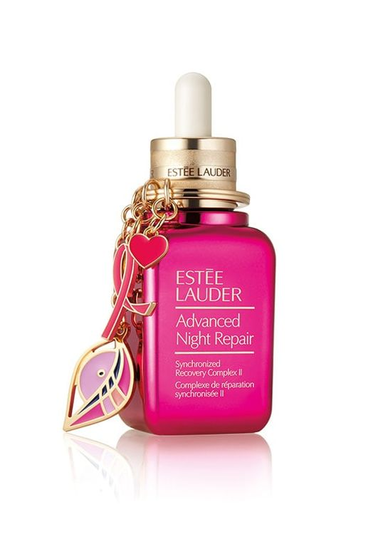 Estee Lauder Advanced Night Repair With Pink Ribbon Keychain