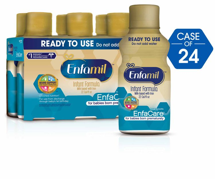 Enfamil EnfaCare Milk-Based Formula, for Babies Born Prematurely, Ready to Use