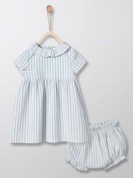 Ensemble robe + bloomer bébé