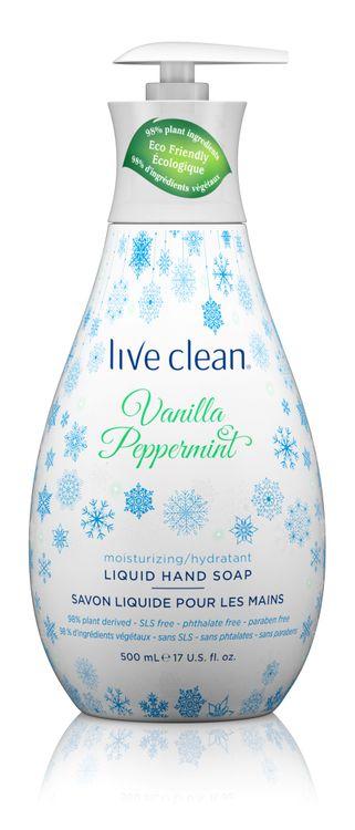 Live Clean Vanilla Peppermint Hand Soap, 17 oz. Bottle