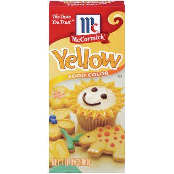 McCormick Yellow Food Color, 1 Fl Oz