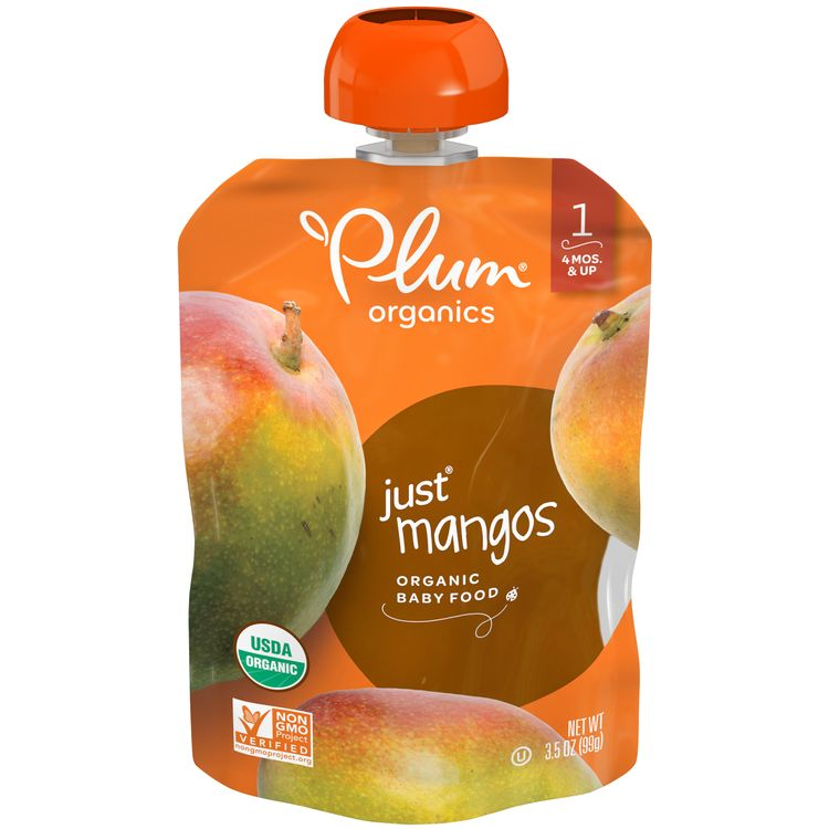 Plum Organics® Stage 1 Organic Baby Food, Mango Puree, 3.5 Ounce Pouch