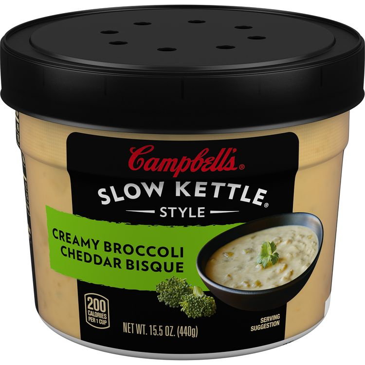 Campbell's® Slow Kettle® Style Creamy Broccoli Cheddar Bisque, 15.5 oz. Tub