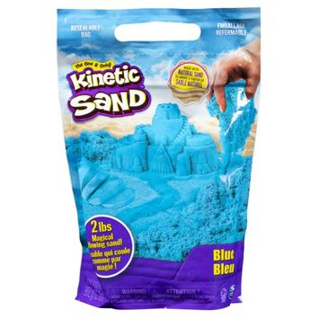 Kinetic Sand 2lb Blue Kinetic Sand for Mixing Molding and Creating