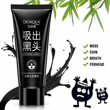 Black Mask,BIOAQUA Activated Charcoal Purifying Blackhead Remover Mask, Blackhead Peel Off Mask, Black Mask Deep Cleaning Facial Mask for Face Nose Pore Cleanse for Acne, Oil Control