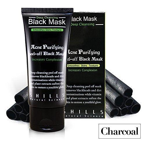 SHILLS Blackhead removing Peel-off Mask, Charcoal Facial Deep Cleanser