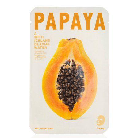 Mishe Papaya Iceland Glacial Water Sheet Mask - Papaya