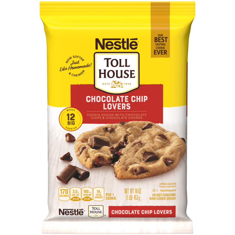 NESTLE TOLL HOUSE® Chocolate Chip Lovers Cookie Dough