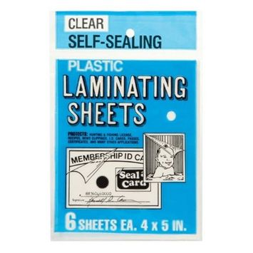 Seal A Card Seal-A-Card 4in x 5in Laminating Plastic Sheets (64521)