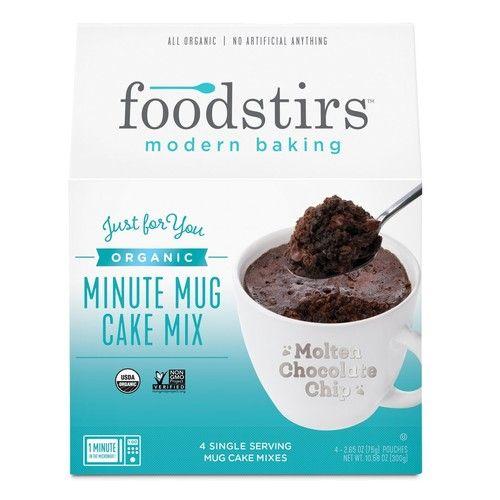 Foodstirs Organic, Non GMO Minute Mug Cake Mix Chocolate Molten Cake, 2.65 Ounce (Pack of 4)