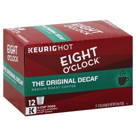 Eight O'Clock Coffee The Original Decaf K-Cup Coffee Pods, Medium Roast, 12 count